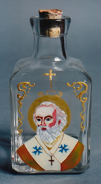 Handpainted Manna Bottle, Bari image St. Nicholas Center Collection